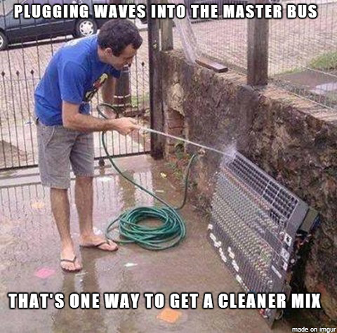 Getting A Cleaner Mix