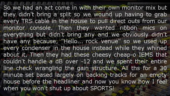 Music Industry vs Sports Talk