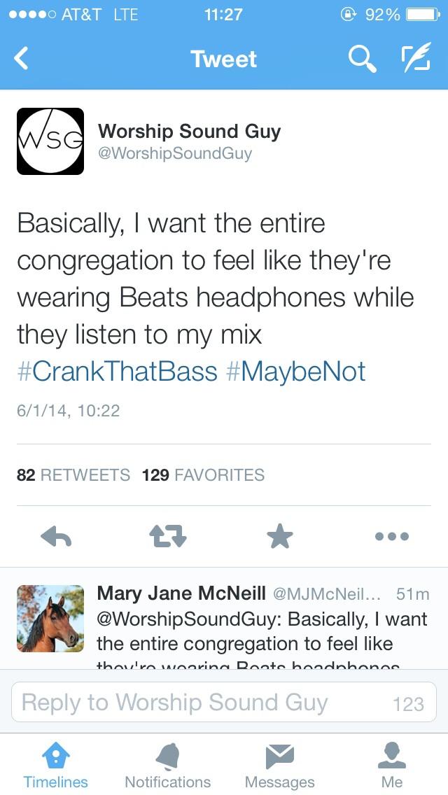 Worship Sound Guy Bass Beats