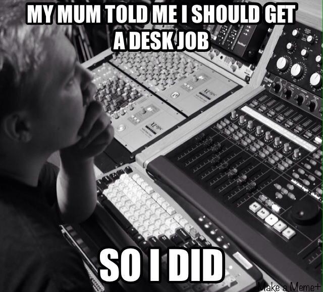 Mixing Desk Job