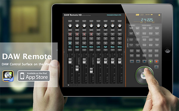 DAW Remote App Screen Shot