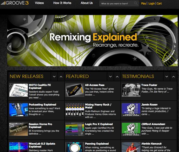 Groove3 Audio Engineering Training  Website Screen Shot