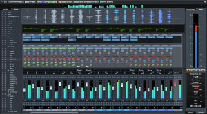 Cubase 8 Pro Mixer Screen