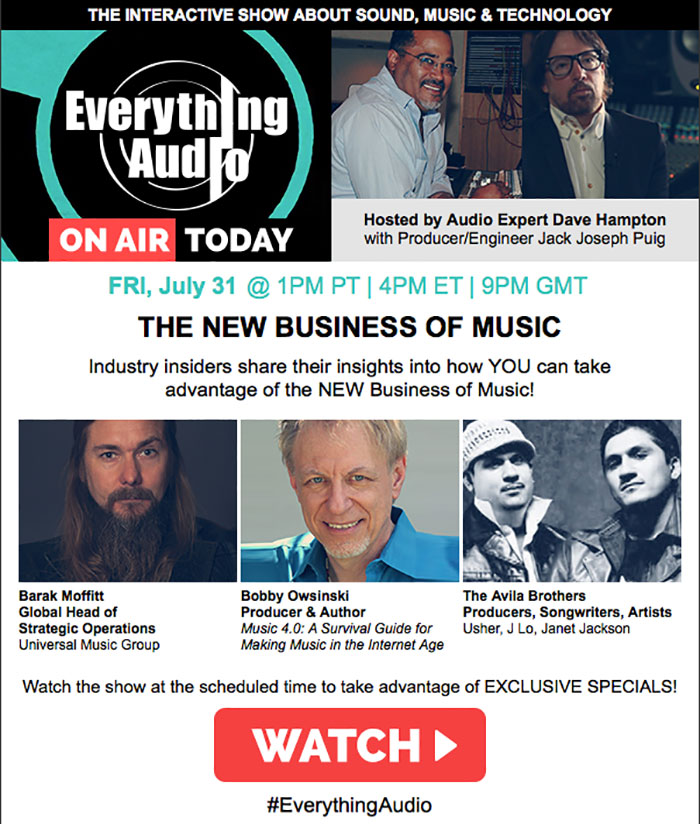 Waves Everything Audio Live Webinar Flyer Image