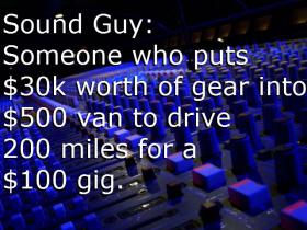 Sound Guy Joke