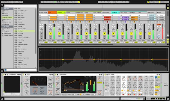 Ableton Live Composition Screen Shot