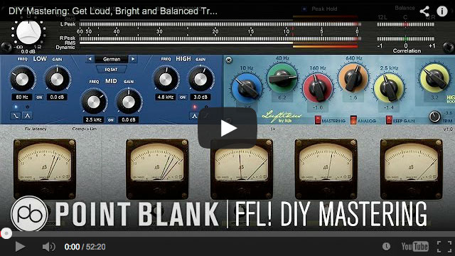 Point Blank DIY Mastering Training Video