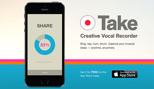 PropellerHeads Take Vocal Recording iOS App Free Image