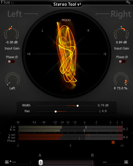 Flux Stereo Tool Audio Plugin Screenshot Image