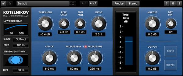 Tokyo Dawn Records TDR Kotelnikov Compressor Screenshot