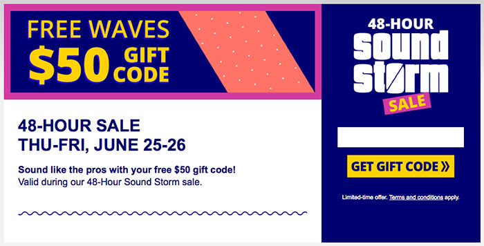 Waves coupon code
