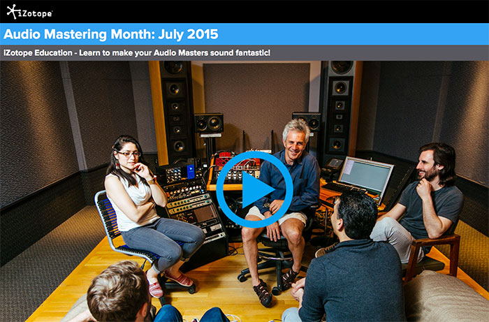 izotope audio mastering month classroom photo